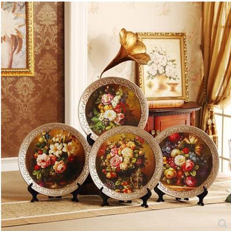 2019 ceramic decorative plate, creative home desk restaurant desktop decoration crafts, European and American style