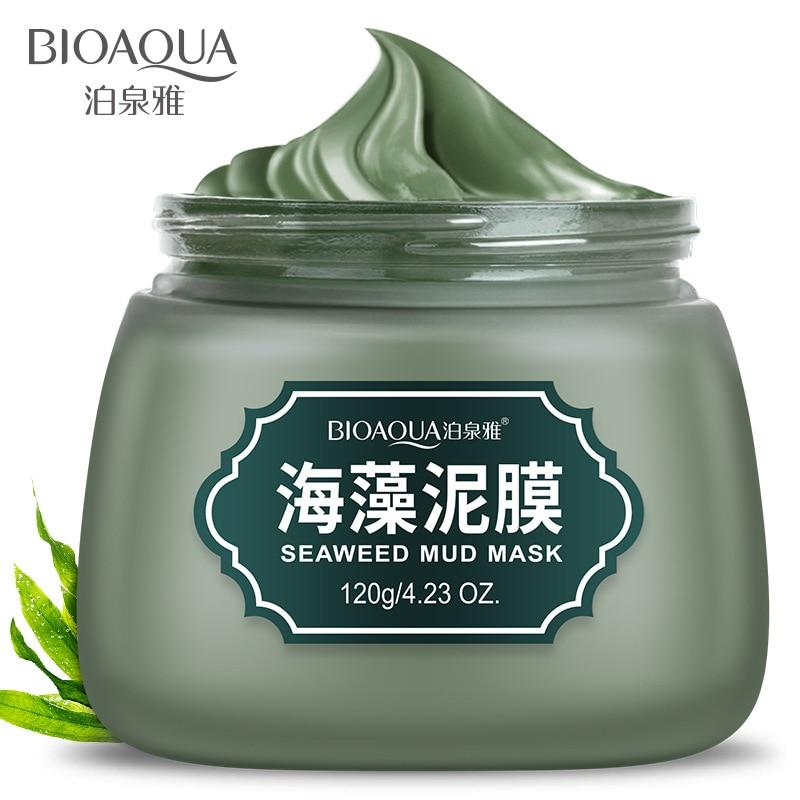 BIOAQUA Seaweed Mud Facial Mask Professional Shrink Pores Acne Treatment Oil Control Whitening Moisturizing Face 120g