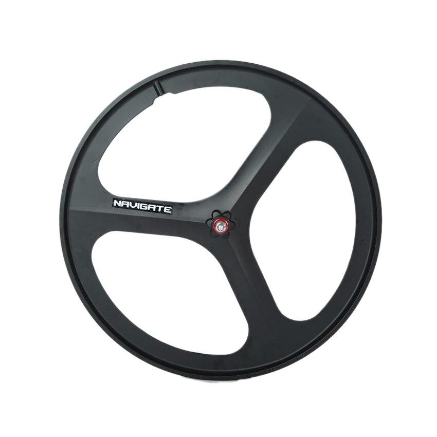 Цена за Магниевого Сплава колеса 700C велосипед 3 спицы fixie Велосипед Mag ТРИ передние задние колеса Mag Сплава Фиксированных передач велосипед колеса диски