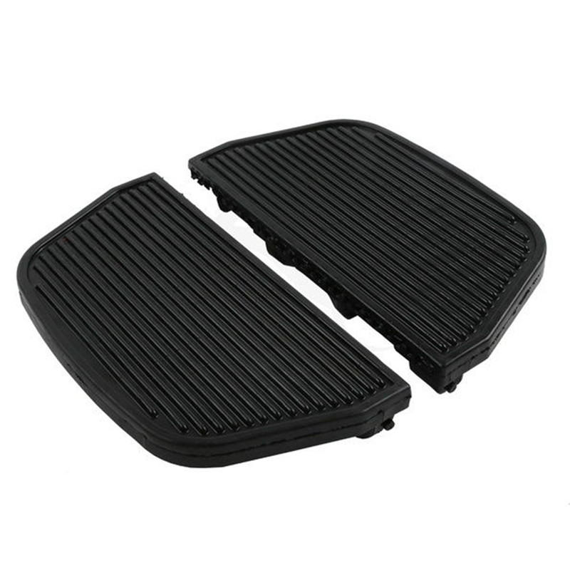 Rear Rubber Footboards Foot Pegs Pad For Harley Dyna Fat Bob Touring Road Glide Tri Electra Glide Road King Dyna Motorcycle цена