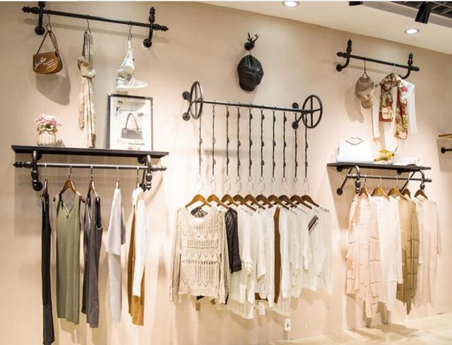 19a184a2736ae New iron art. Men's and women's clothing clothes shop. Clothes rack. Display  rack. Wall hanging. Decoration side hanging. 001