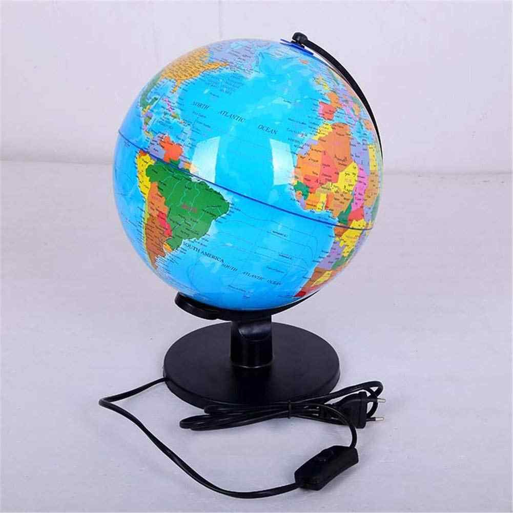 World Globe Map Table Desk Lamp LED Night Light Kids Gift Educational on world globe, map of the volcano, thematic map, map earth's, topographic map, map of the world, printable globe, mappa mundi,