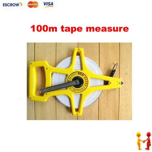 ФОТО Freeshipping, 100m leather measuring tape, fiberglass tape measure