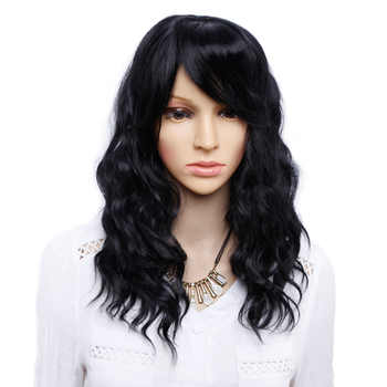 Amir Black Wig With Bangs Natural Wave Wigs for Women Black mix Brown Wig long Bob Synthetic Hair wigs Peruca - DISCOUNT ITEM  20% OFF All Category