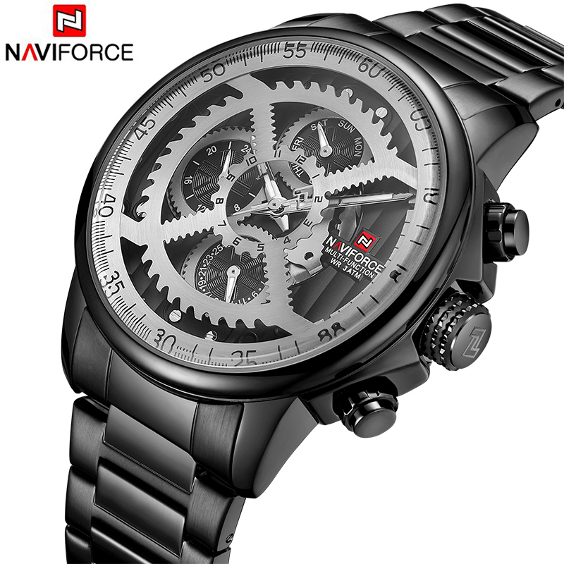 NAVIFORCE Watch Men Fashion Casual Sports Watches Top Brand Waterproof Military Quartz 24 Hour Dial Male Clock Relogio MasculinoNAVIFORCE Watch Men Fashion Casual Sports Watches Top Brand Waterproof Military Quartz 24 Hour Dial Male Clock Relogio Masculino