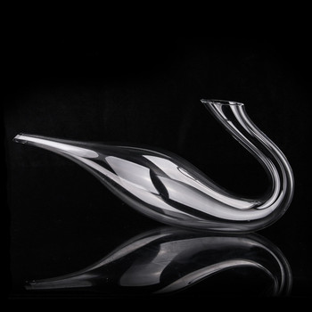 Artificial blowing High-grade Oblique Mouth Swan Shape 1000ml Decanter Lead-free Crystal Glass European Wine Shaker