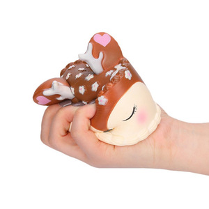 Image 5 - coloful jumbo Deer Cake Squishy slow rising antistress toy stress relief toy for children boys girls adults autism squeeze toy