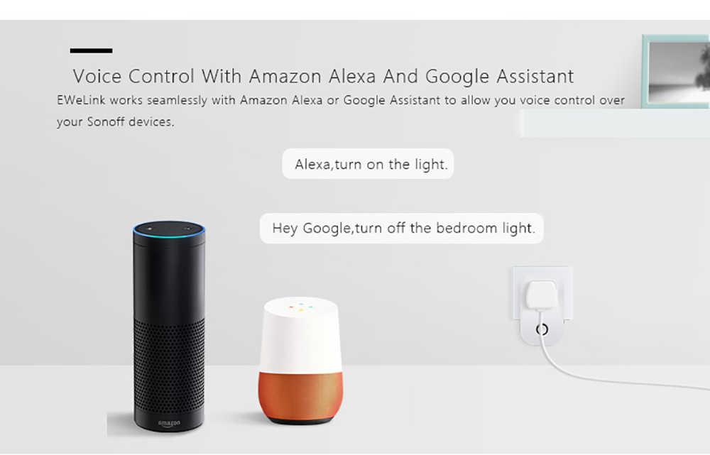 Sonoff S26 inteligentne gniazdo WiFi CN/US/EU/UK/AU wtyczki bezprzewodowe gniazdo zasilania smart-domowy przełącznik współpracuje z Alexa asystent Google IFTTT