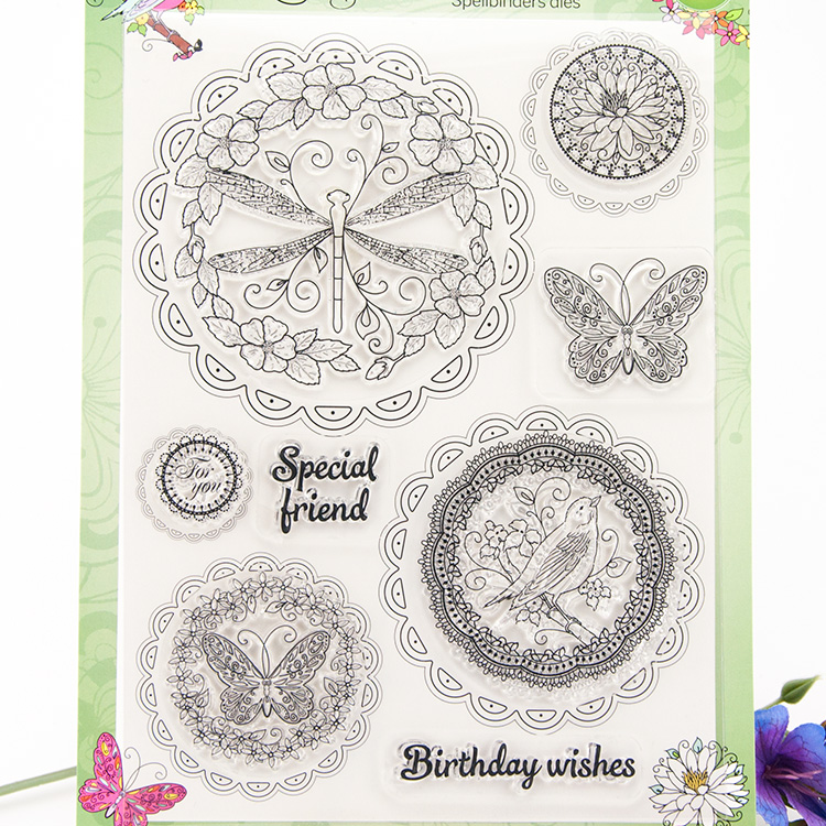 Birthday wish pattern Scrapbook DIY photo cards account rubber stamp clear transparent seal background handwork art gift 3d laser cut pop up greeting cards happy birthday postcards vintage chic retro peacock thank you gift message cards for girl