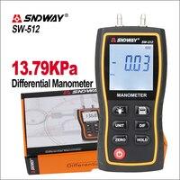 SNDWAY Digital Manometer Air Pressure Gauge SW 512 Pressure Gauges Differential Natural Gas Pressure Gauge Meter Measurement