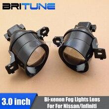 Bi-xenon Fog Light Lenses Accessory Projector Lens For Nissan / Infiniti Cars Retrofit Style Use H11 HID Xenon Bulbs Waterproof