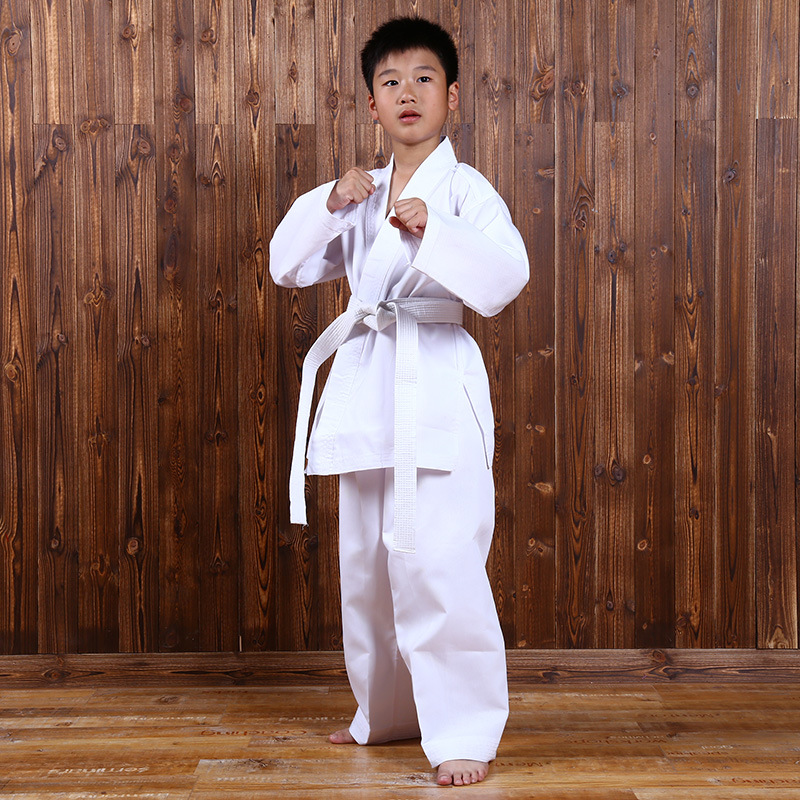 New Karate Clothes Season Taekwondo Costume Children's Judo Sports Training Suit Explosion Fitness Clothes Sports Taekwondo