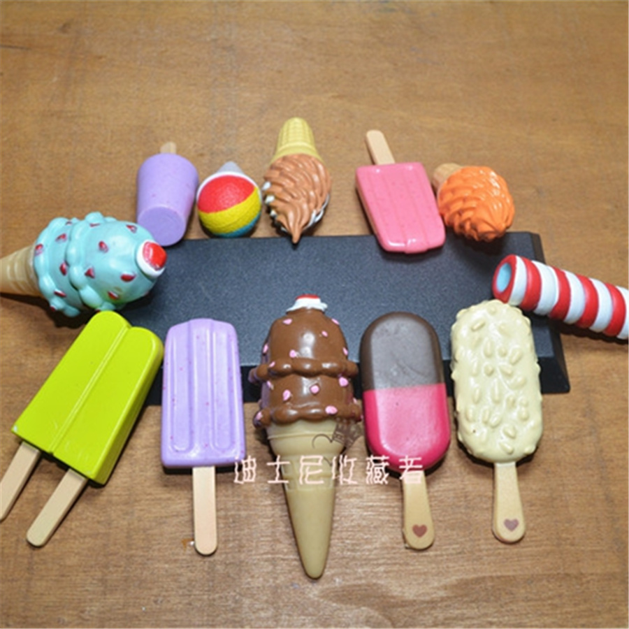 60pcs/lot 3.5-6cm artificial ice cream figures toys popsicles aciton model toys will mix 5-8 design per lot ...