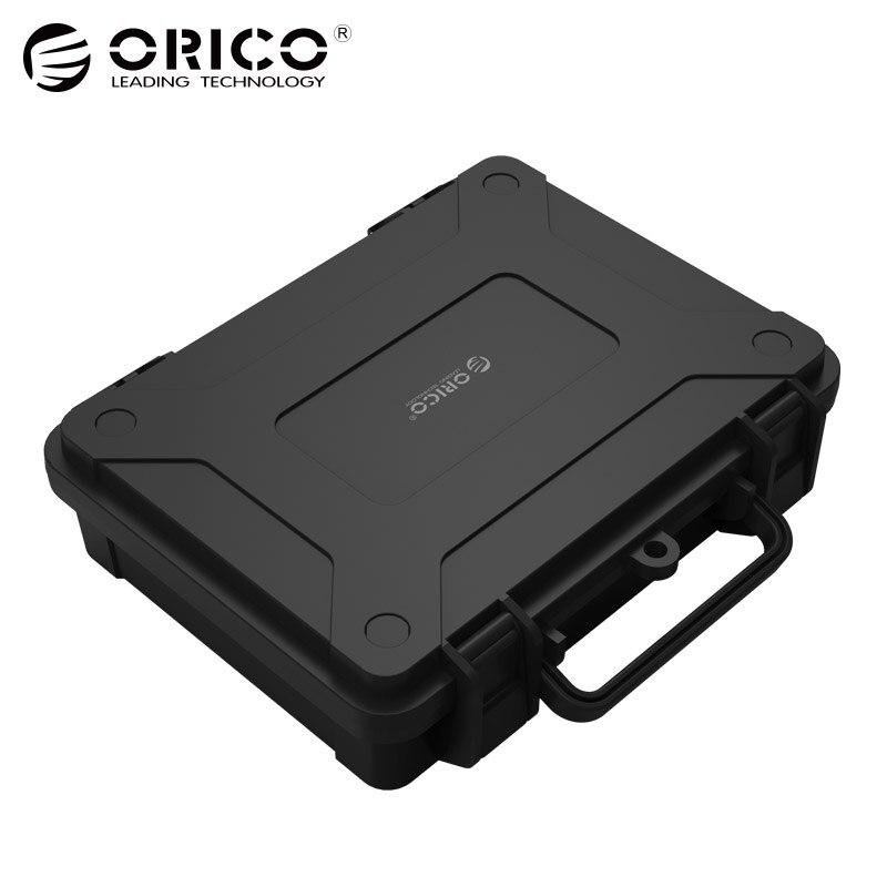 Protección negro y caja de almacenamiento con Eva esponja apoyo 3.5 inch disco duro por doble Snap diseño