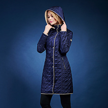 winter jacket women Europe and Russia  gentlewomen  single zipper with a hood Thin slim  cotton-padded jacket SIC-V519