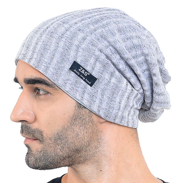 2fb7f6c2466e HISSHE Mens Jersey Slouch Beanie Cap Hollow Cool SkullCap Beanie For Men  Women Large Thin Summer Outdoor Hat