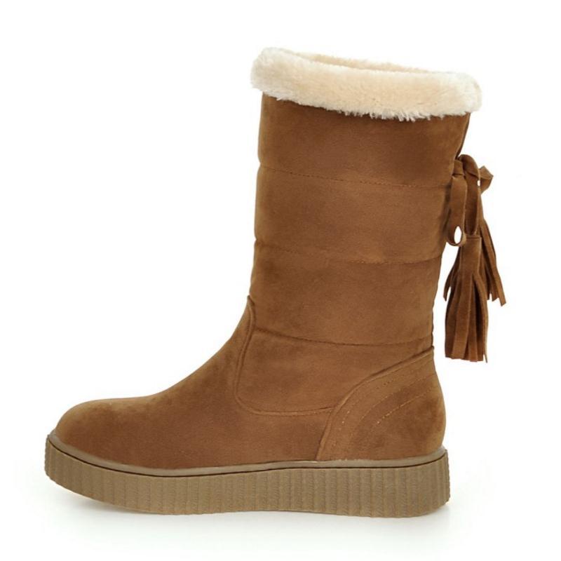 47cea5a1486 negro Tamaño La Nieve Zapatos Suaves Para Invierno Frío El amarillo Beige  Pantalones Medias 43 Calza ...