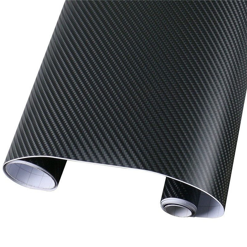 152cmx50cm 4D Carbon Fiber Vinyl Film Sheet Wrap Roll Waterproof Auto Car Decor Sticker