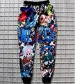 Классический 90 s Мультфильм бегунов брюки 3D печати fashionsweatpants Женщины/Мужчины повседневные брюки pantalones Бесплатная доставка