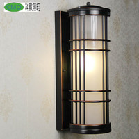 All The World Classical Vintage Wall Lamp Warehouse Industrial Style Metal Glass Outdoor Terrace Entrance Azebo