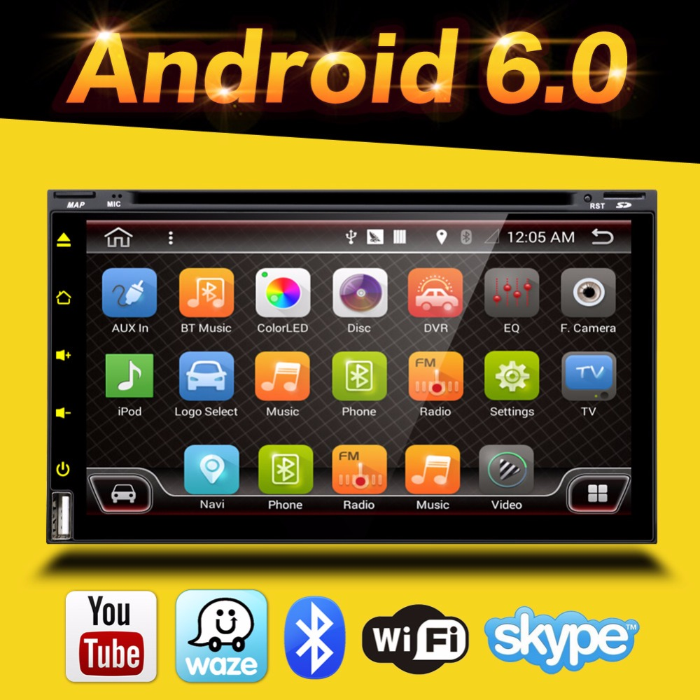 2 Din Android 60 Car Dvd Player Gps Two 2din Hd Rds 7 Inch Quad Usa Seller Dual Audio 12pin Stereo Wire Harness Radio Power Plug Core In Dash Navigation Pc Video Free Cam Map Card