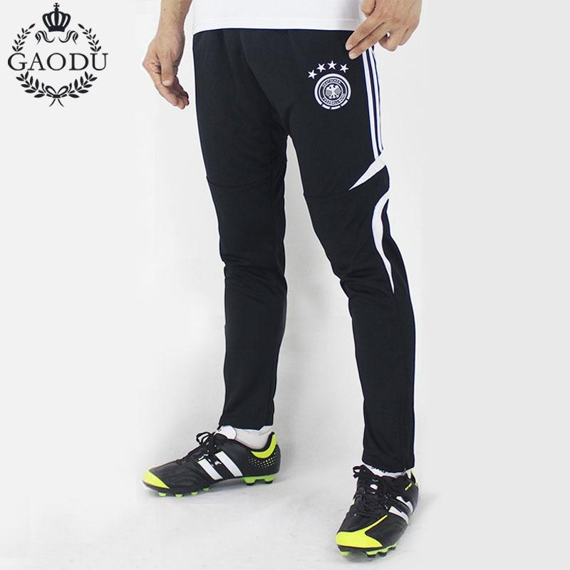 3b0d27145edd3 100% poliéster pantalones de entrenamiento de fútbol para hombre Jogging  deporte pantalones cremallera recoger piernas deportivos en Pantalones  casuales de ...