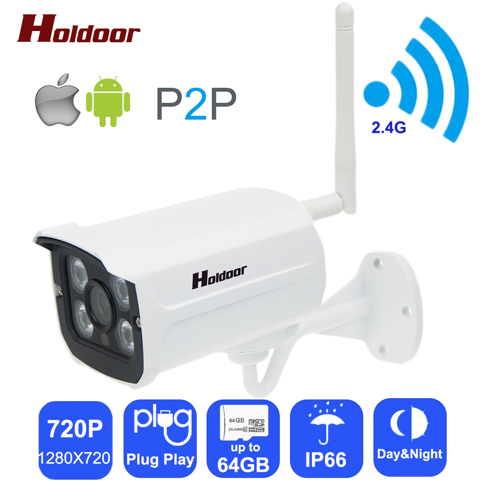 Wifi Ip Camera 720p HD Support Micro SD Card Waterproof CCTV Security Wireless Mini Camara P2P Outdoor Infrared IR Network CAM wanscam hot sale model 720p hd outdoor waterproof ip camera bullet camera with 1megapixel support sd card recording