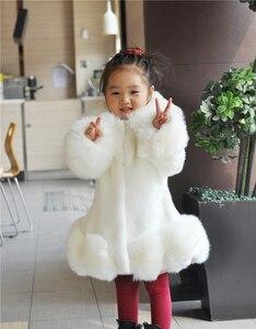 Image 5 - ใหม่ 2018 เด็กทารกแขนยาวWinter Faux FURยี่ห้อFUR Coatสำหรับหญิงอย่างเป็นทางการSoft PARTYเสื้อเด็กงานแต่งงานOutwear