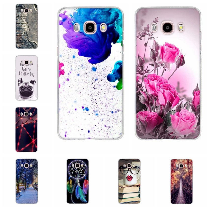 TPU Soft Case For Samsung Galaxy J5 2016 J510  Printing Drawing Silicone Cases Cover For Samsung Galaxy J5 2016 Phone Case Bags