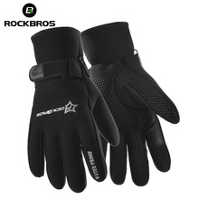 ROCKBROS Winter Bicycle Warm Full Finger Gloves Road MTB Bike Bicycle Fleece Thermal Accessories Cycling Riding