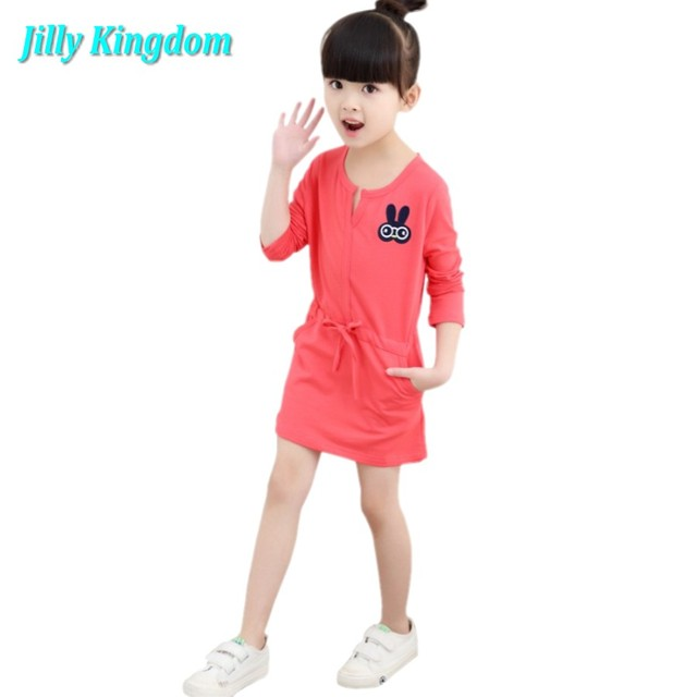 2019 New Girls Dress Spring summer baby kid Children s clothing cute  Rainbow long sleeve dresses 1pcs sale 2~10Age high quality 2b384406f