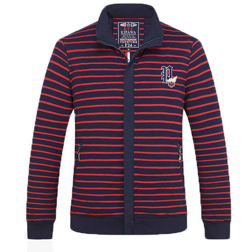 Бесплатная доставка, бренд Kendy Shark, осень 2018, полосатый кардиган, толстовка, мужская Тонкая Повседневная куртка большого размера, Мужская молодежная M-4XL168