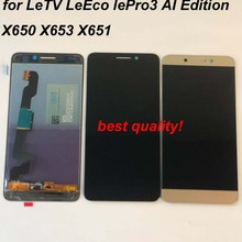Letv LeEco Le Pro 3 X650 X651 X656 X657 X658 X659 X653 Lcd 디스플레이 + 터치 스크린 디지타이저 어셈블리 AI 에디션 용 100% 오리지널