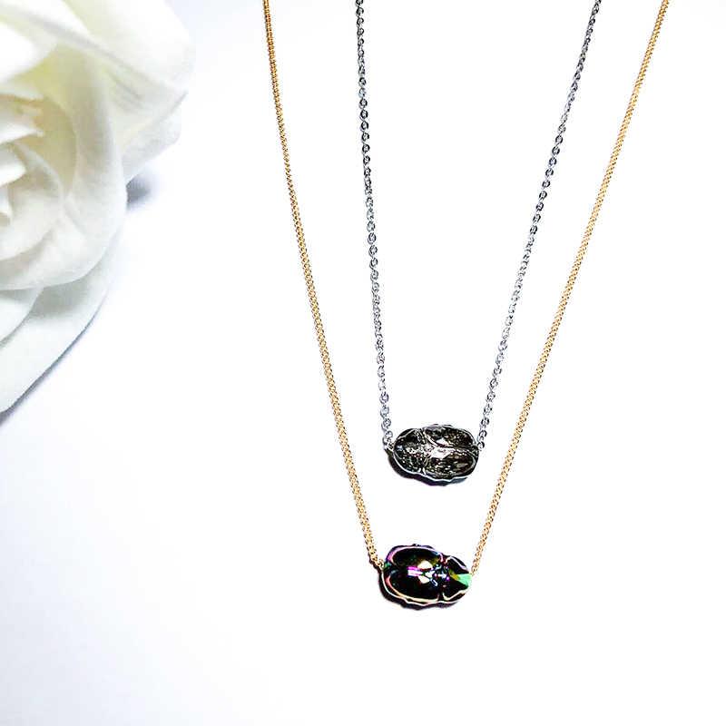 BAFFIN Retro potente Scarab collares colgantes cristales de Swarovski oro Color cadena collares para Mujeres Hombres Accesorios