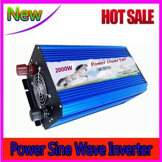 цена на Pure Sinus Inverter 2000w 12 volt 24 volt 48 volt home inverter 2000w pure sine wave inverter peak 4000W