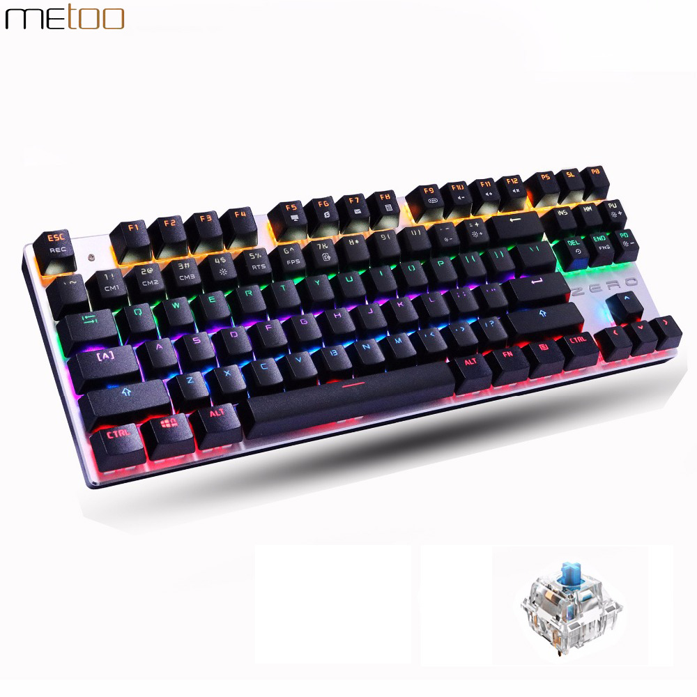 87/104 Keys Mechanical Keyboard for Overwatch LOL PUBG Dota 2 RGB Backlight Gaming Keyboard USB Wired Gamer Keyboards klavye