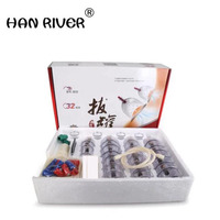 Cheap 32 Pieces Cans cups chinese vacuum cupping kit pull out a vacuum apparatus therapy relax massagers curve suction pumps