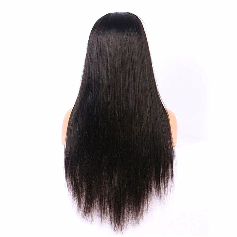 straight glueless full lace human hair wig