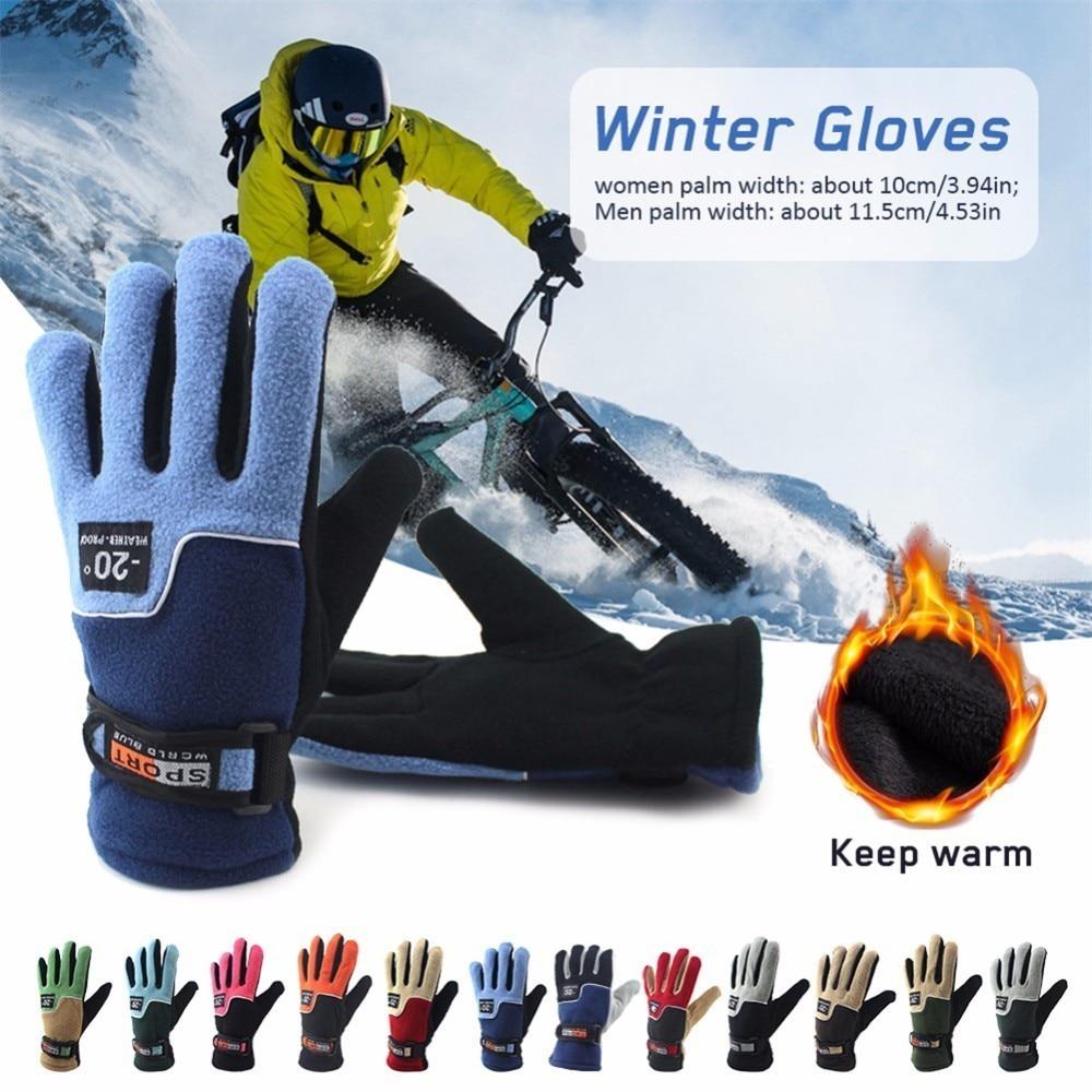 Men Women Waterproof Windproof Winter Warm Gloves Motorcycle Ski Snow Snowboard