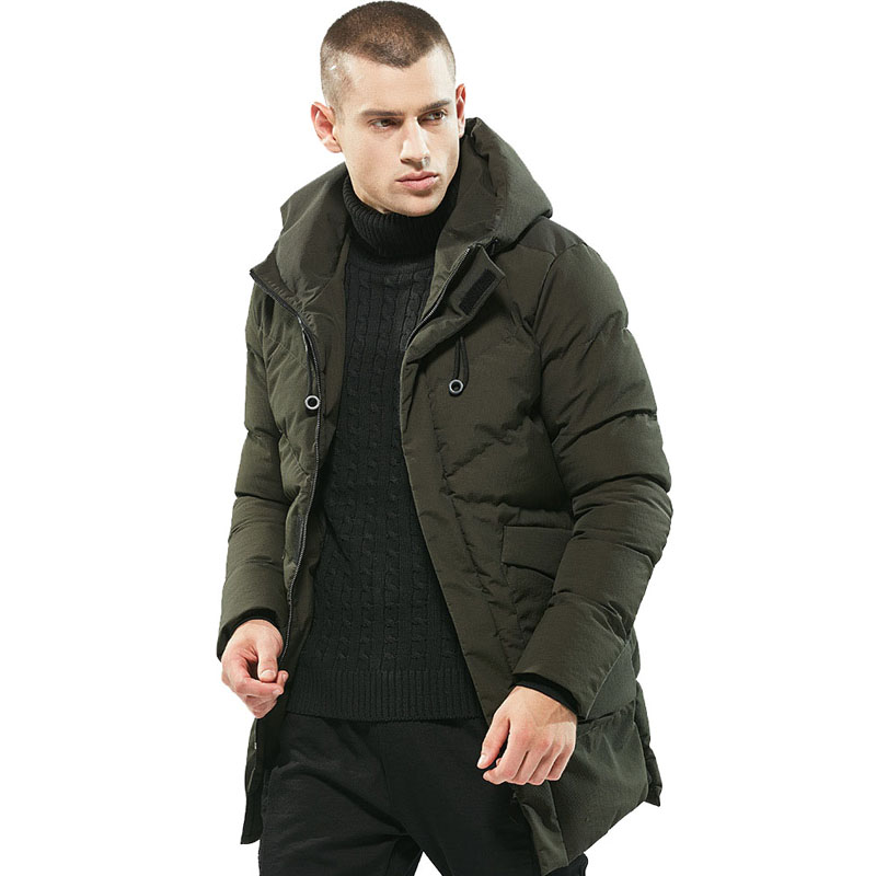 Parka Men Winter Jackets Cotton Solid Thick Brand Design Parkas Mens windbreaker Casual Outerwear Mens Coats warm hot erkek mont