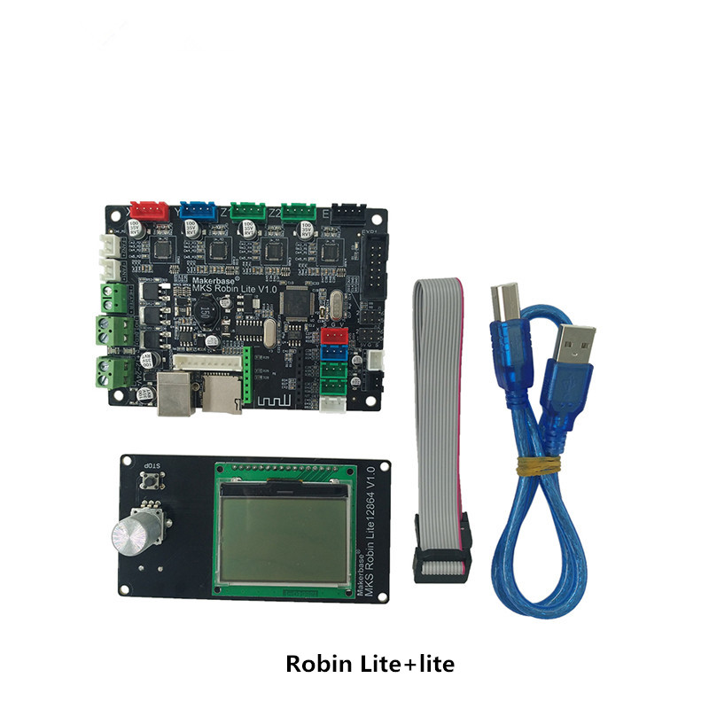все цены на 3D printer motherboard Robin Lite 32 bit ARM motherboard with 12864 screen онлайн
