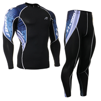 Men S Compression Running Set Long Sleeve Shirt Tights Pants Quick Dry Sportswear Man Fitness Clothing