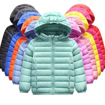 1-12 Year Baby Girls Boys Parka Light Kids Jacket Hood Duck Down Coat Winter Children Jacket Spring Fall Toddler Outerwear 1