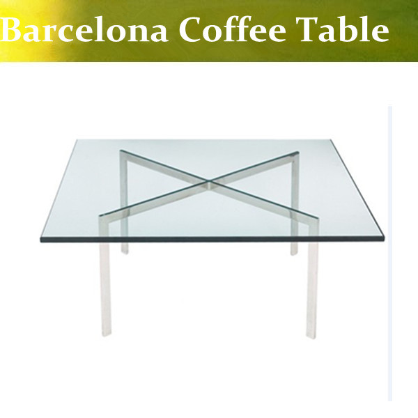 U-BEST high quality Ludwig Mies van der Rohe Barcelona Coffee Table,Modern Barcelona sideTable u best high quality ludwig mies van der rohe barcelona bench designer bench in genuine leather