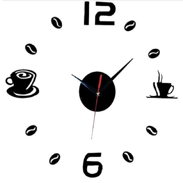 new 2016 sale time-limited real quartz wall clocks coffee diy fashion modern still life large decorative horloge digital clock