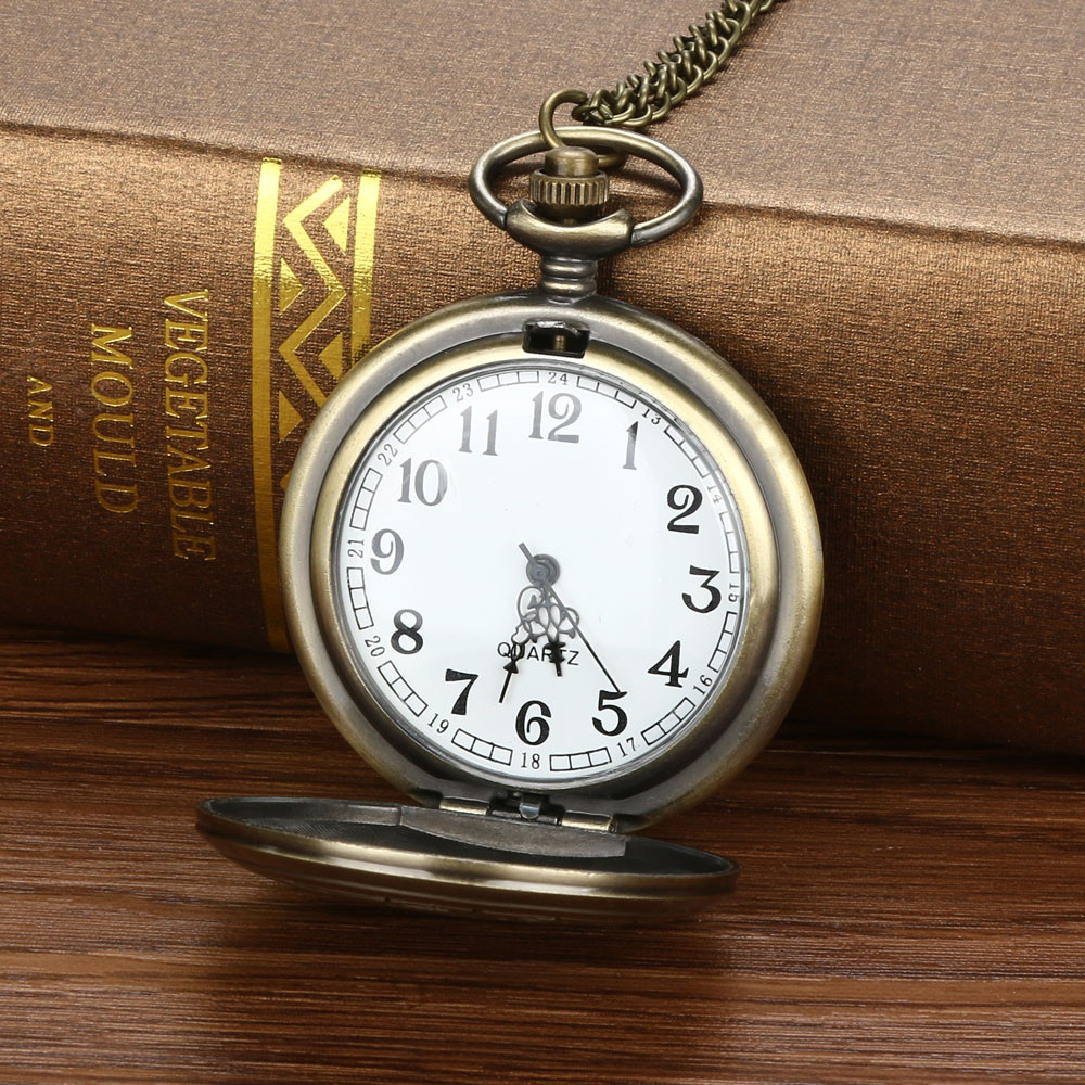 Vintage Chain Retro The Greatest Pocket Watch Necklace For Grandpa Dad Gifts Mannen Horloge Men's Watch