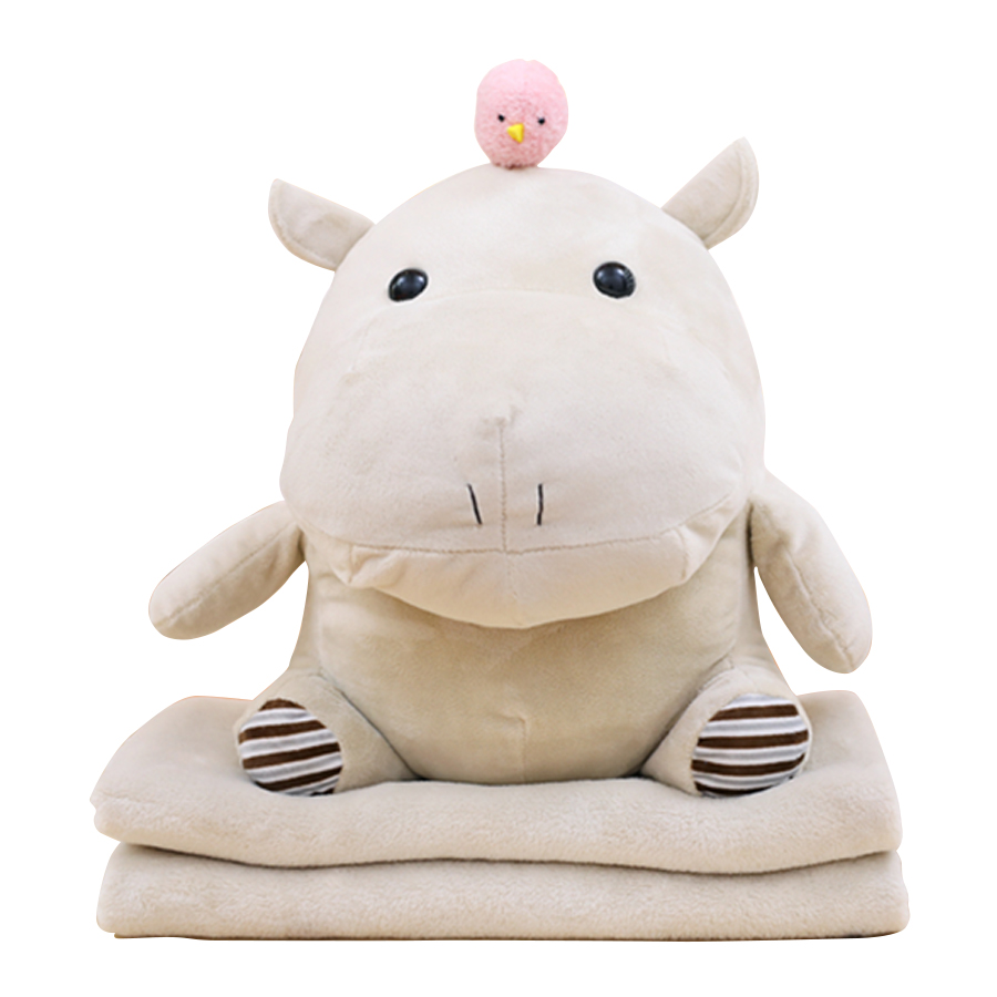 Hippopotamus Toys Pillow Plush Simulation Stuffed Animals Kids Soft Toys Soft Plush Hot Brinquedos Valentines Day Gift SIA0048 fancytrader new style giant plush stuffed kids toys lovely rubber duck 39 100cm yellow rubber duck free shipping ft90122