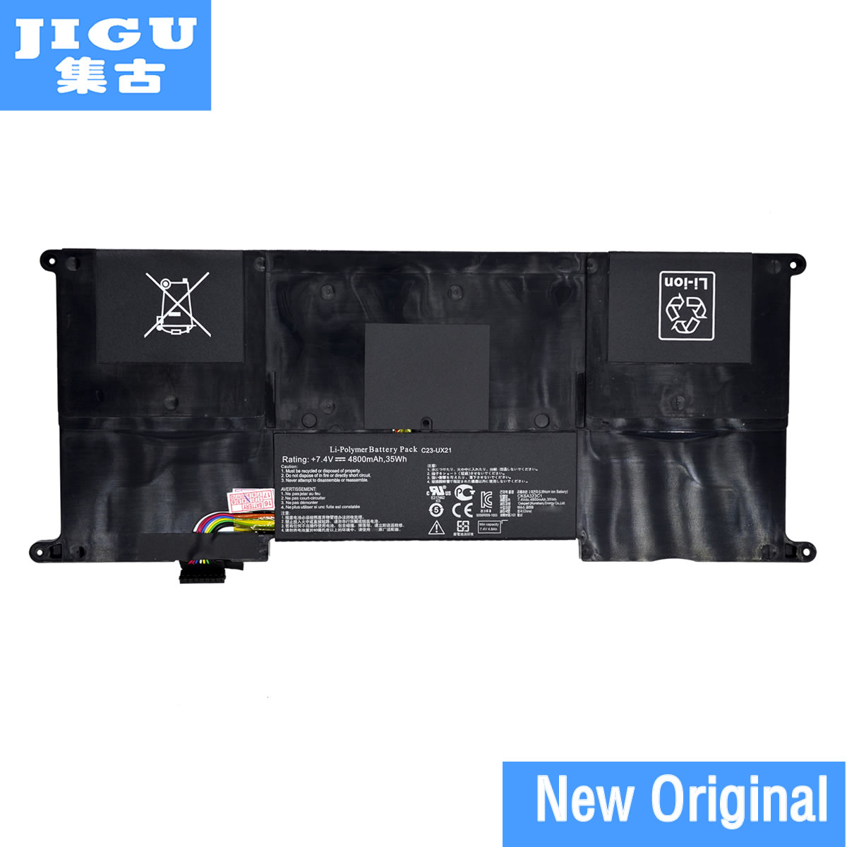 JIGU C23-UX21 C22-UX21 Original laptop Battery For Asus Ultrabook ZENBOOK UX21 UX21A UX21E 7.4V 4800MAH 35WH free shipping new 50wh genuine c32n1305 battery for asus zenbook infinity ux301la ultrabook laptop