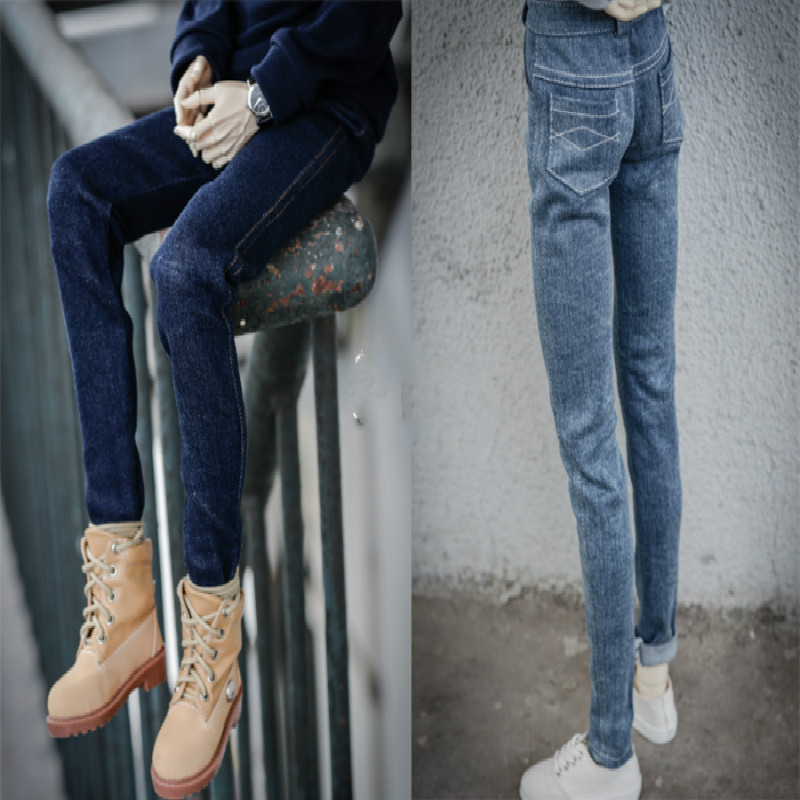 BJD doll clothes bjd jeans feet stretch denim trousers - msd sd10 sd13 sd17 soom new bjd doll jeans lace dress for bjd doll 1 6yosd 1 4 msd 1 3 sd10 sd13 sd16 ip eid luts dod sd doll clothes cwb21