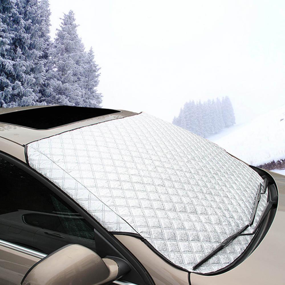 Universel voiture SUV pare-brise avant couverture de neige gel pare-soleil protection bouclier pare-brise couverture plus épaisse étanche à la poussière